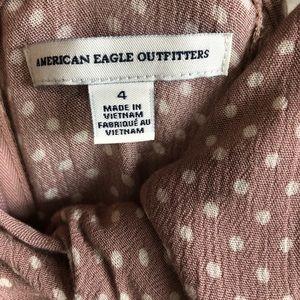 American Eagle Outfitters Dresses - American Eagle pink polka dot dress